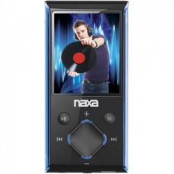 Naxa - NMV173BL - Naxa NMV-173 4 GB Blue Flash Portable Media Player - Audio Player, Video Player, Photo Viewer, FM Tuner, Voice Recorder - 1.8 Color LCD - SD - Battery Built-in - USB - Headphone
