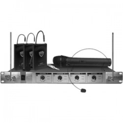 Nady System - 401X-QUAD-HT/A/B - Nady 401X QUAD Wireless Microphone System - 170 MHz to 230 MHz Operating Frequency - 30 Hz to 18 kHz Frequency Response - 500 ft Operating Range