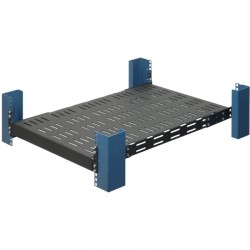 Rack Solution - 108-0991 - Rack Solutions Heavy Duty Fixed Shelf, 900 lb Capacity - 19 1U Wide Rack-mountable for UPS, Server - Black Powder Coat - 900 lb x Maximum Weight Capacity