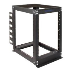 Rack Solution - 111-2325 - Rack Solutions 16U Open Frame Rack - 24 Depth - 19 16U Wide for PDU, UPS, A/V Equipment - Black Powder Coat - 3000 lb x Maximum Weight Capacity