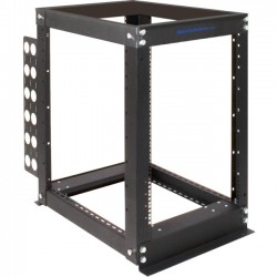 Rack Solution - 111-2339 - Rack Solutions 16U Open Frame Rack - 20 Depth - 19 16U Wide for PDU, UPS, A/V Equipment - Black Powder Coat - 3000 lb x Maximum Weight Capacity
