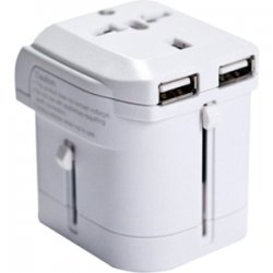 I/O Magic - I016W01U2W - I/OMagic World Travel Power Adapter (White) - 8 A Output Current