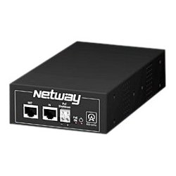 Altronix - NETWAY1E - Altronix NetWay1E Power over Ethernet Injector - 110 V AC Input - 1 10/100/1000Base-T Input Port(s) - 1 10/100/1000Base-T Output Port(s) - 85 W