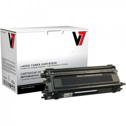 V7 - TBK2TN115BKH - V7 Black High Yield Toner Cartridge for Brother HL-4040CN, HL-4040CDN, HL-4070CDW; MFC-9440CN, MFC-9450CDN, MFC-9840CDW; DCP-9040CN, DCP-9045CDN TN115BK 5K YLD - Laser - 5000 Page