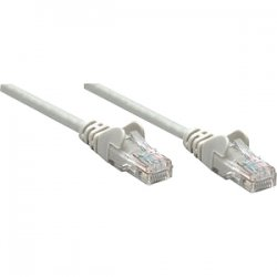 IntelliNet - 319867 - Intellinet Patch Cable, Cat5e, UTP, 25', Gray - PVC cable jacket for flexibility and durability with snag-free boots to protect the RJ45 connectors