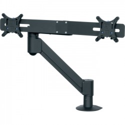 Middle Atlantic Products - MMB1X2PL - Middle Atlantic Products Mounting Arm for Flat Panel Display - 22 Screen Support - 25 lb Load Capacity - Black
