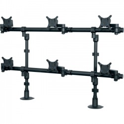 Middle Atlantic Products - MMB3X2D - Middle Atlantic Products Mounting Arm for Flat Panel Display - 22 Screen Support - 25 lb Load Capacity - Black