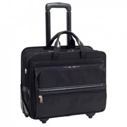 McKlein / Siamod - 56445 - McKleinUSA 15.6 Nylon Patented Detachable -Wheeled Laptop Briefcase - Shoulder Strap, Hand Strap, Handle - 2 Pocket17 Screen Support - Nylon - Black