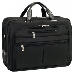McKlein / Siamod - 76515 - McKleinUSA 15.6 Nylon Fly-Through Checkpoint-Friendly Laptop Briefcase - Shoulder Strap , Hand Strap - 17 Screen Support - Nylon - Black