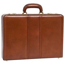 McKlein / Siamod - 80434 - McKleinUSA Leather 3.5 Attache Breifcase - Leather, Suede Interior - Handle, Hand Strap - 13 Height x 18 Width x 3.5 Depth