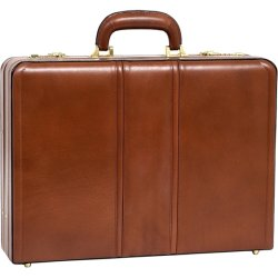 McKlein / Siamod - 80464 - McKleinUSA Leather 4.5 Expandable Attache Briefcase - Leather, Suede Interior - Hand Strap, Handle - 13 Height x 18 Width x 4.5 Depth
