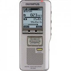 Olympus - V403121SU000 - Olympus DS-2500 2GB Digital Voice Recorder - SD - SD Supported - 1.7 LCD - Headphone - 303 HourspeaceRecording Time - Portable