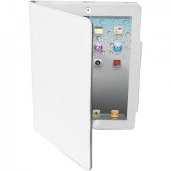 Premiertek.net - LC-IPAD3-W - Premiertek Carrying Case (Flip) for iPad - White - Leather, Microsuede Interior - 7.5 Height x 9.9 Width x 1 Depth