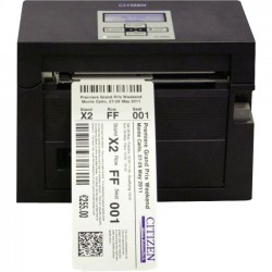 Citizen - CL-S400DTU-R - Citizen CL-S400DT Direct Thermal Printer - Monochrome - Desktop - Label Print - 4.10 Print Width - 6 in/s Mono - 203 dpi - 16 MB - USB - Serial - LCD - 4.65 Label Width