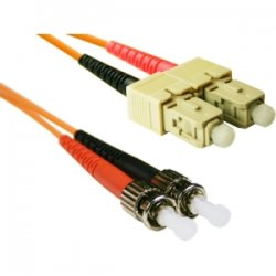 CP Tech / Level One - STSC-01 - ClearLinks 1 Meter ST-SC 62.5 MM OFNR Duplex 2.0MM - ST Male - SC Male - 3.3ft