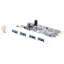 Sabrent - CP-4PTU - Sabrent USB 3.0 4-port PCI Express Card - PCI Express - Plug-in Card - 4 USB Port(s) - 4 USB 3.0 Port(s)
