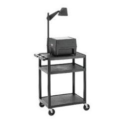 Da-Lite - 4691E - Da-Lite PIXMate Plastic Cart With 18 X 24 Shelf - Up to 19 Screen Support - 1 x Shelf(ves) - 34 Height x 24 Width x 18 Depth - Plastic, Polyvinyl Chloride (PVC)