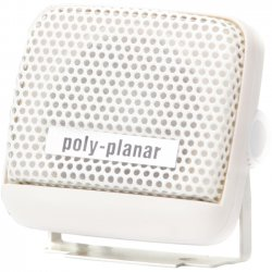 Poly-Planar - MB21W - Poly-Planar MB21 - 8 W PMPO Outdoor Speaker - White - 1 kHz to 10 kHz - 4 Ohm - Surface Mount