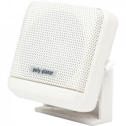 Poly-Planar - MB41W - Poly-Planar MB41 - 10 W PMPO Outdoor Speaker - 2 Pack - White - 1 kHz to 10 kHz - 4 Ohm - Surface Mount