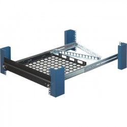 Rack Solution - 1USHL-139-TRNS-UPGRD - Rack Solutions Transport Upgrade for Laptop Sliding Shelf - 19 1U Wide Rack-mountable - Black Powder Coat - 75 lb x Maximum Weight Capacity