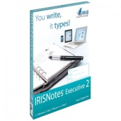 IRIS - 457489 - I.R.I.S. IRISnotes Executive 2 Digital Pen - Infrared Pen - 11 Hour Battery Run Time - PC, Mac