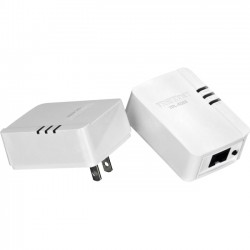 TRENDnet - TPL-406E2K - TRENDnet 500Mbps Compact Powerline AV Adapter Kit - 2 - 1 x Network (RJ-45) - 500 Mbit/s Powerline - 984.25 ft Distance Supported - HomePlug AV - Fast Ethernet