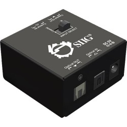 SIIG - CE-CX0011-S1 - SIIG S/PDIF Coaxial/TOSLINK 2-Way Converter - 192kHz