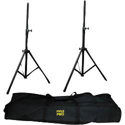 Pyle / Pyle-Pro - PSTK103 - Pyle PSTK103 Heavy-Duty Anodizing Dual Speaker Stand with Traveling Bag Kit