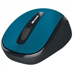 Microsoft - GMF-00273 - Microsoft Wireless Mobile Mouse 3500 - BlueTrack - Wireless - Radio Frequency - Cyan Blue - USB 2.0 - 1000 dpi - Scroll Wheel - 3 Button(s) - Symmetrical