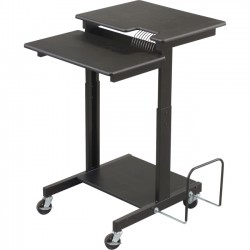 MooreCo - 85052 - Balt Adjustable Height Web A/V Cart - Black