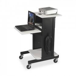 MooreCo - 89759 - Balt 3-Shelf Presentation Cart - 2 x Shelf(ves) - 4.8 Height x 27 Width x 7.2 Depth - Gray