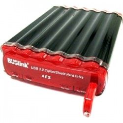 Buslink Media - CSC-4T-SU3 - Buslink CipherShield CSC-4T-SU3 4 TB External Hard Drive - SATA - Portable - USB 3.0, eSATA - Black - 1 Pack
