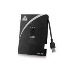 Apricorn - A25-3BIO256-S256 - Apricorn A25-3BIO256-S256 256 GB External Solid State Drive - Portable - USB 3.0 - Black - 1 Pack