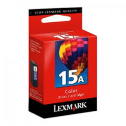Lexmark - 18C2100 - Lexmark No.15A Tri-Color Ink Cartridge - Inkjet - 150 Page - Color