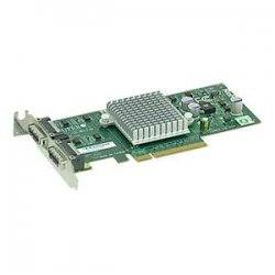 Supermicro - AOC-STG-I2 - Supermicro Low-Profile 2 Port 10-Gigabit Ethernet LAN Card - PCI Express x8 - 2 x CX4 - 10GBase-CX4