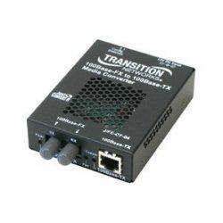 Transition Networks - J/FE-CF-04(100)-NA - Transition Networks Fast Ethernet Media Converter - 1 x Network (RJ-45) - 1 x SC Ports - - USB - 10/100Base-TX, 100Base-FX - Rack-mountable, External