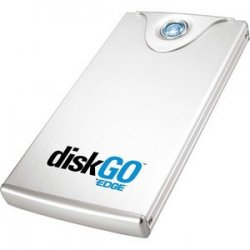 Edge Tech - EDGDG-216252-PE - EDGE DiskGO. 1 TB 3.5 External Hard Drive - USB 2.0 - Brushed Aluminum