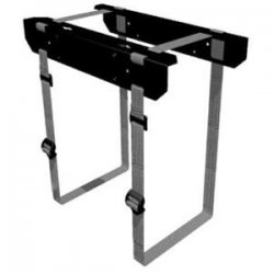 Penn Elcom - CPU-42BN - Penn Elcom Fixed Computer Holder - Steel - Black