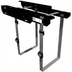 Penn Elcom - CPU-57BN - Penn Elcom Sliding Computer Holder - Steel - Black
