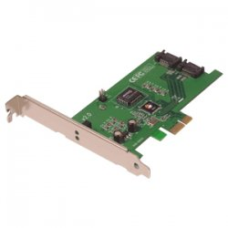 SIIG - SC-SAER12-S2-KIT - SIIG SC-SAER12-S2-KIT 2-port SATA RAID Controller - Serial ATA/300 - PCI Express x1 - Plug-in Card - RAID Supported - 0, 1 RAID Level - 2 SATA Port(s)