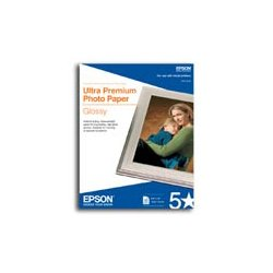 "Epson - S042174 - Epson Ultra Premium Photo Paper - 4"" x 6"" - 305 g/m² Grammage - Glossy - 96 Brightness - Bright White"