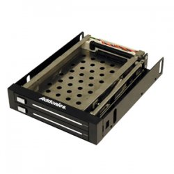 "Addonics Technologies - AE25SNAP2SA - Addonics AE25SNAP2SA Snap-In Double Drive Mobile Rack - 2 x 2.5"" - Front Accessible Hot-swappable - Internal"