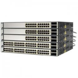 Cisco - WS-C3750E-48PDE-RF - Cisco Catalyst 3750E-48PD-E Multi-layer Stackabel Switch with PoE - 2 x X2 - 48 x 10/100/1000Base-T, 2 x