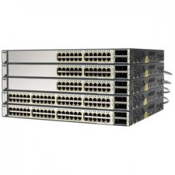 Cisco - WS-C3750E48PDEF-RF - Cisco Catalyst 3750E-48PD-EF Multi-layer Stackabel Switch with PoE - 2 x X2 - 48 x 10/100/1000Base-T, 2 x