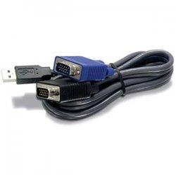 TRENDnet - TK-CU10 - TRENDnet 10ft USB/VGA KVM cable - 10ft
