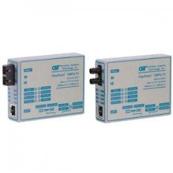 Omnitron - 4331-2 - FlexPoint 100Mbps Ethernet Fiber Media Converter RJ45 SC Single-Mode 30km - 1 x 100BASE-TX; 1 x 100BASE-LX; Univ. AC Powered; Lifetime Warranty