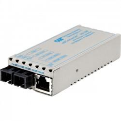 Omnitron - 1103-1-2 - miConverter 10/100 Ethernet Fiber Media Converter RJ45 SC Single-Mode 30km - 1 x 10/100BASE-TX, 1 x 100BASE-LX, Univ. AC Powered, Lifetime Warranty