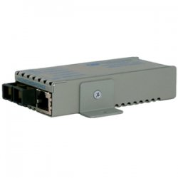 Omnitron - 1200-0-1W - miConverter 1000Mbps Gigabit Ethernet Fiber Media Converter RJ45 ST Multimode 550m Wide Temp - 1 x 1000BASE-T, 1 x 1000BASE-SX, US AC Powered, Lifetime Warranty