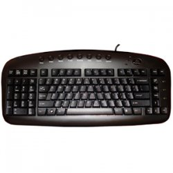 Ergoguys - KBS-29BLK - A4Tech Left Handed Keyboard Wired USB Black Via Ergoguys - USB - Black