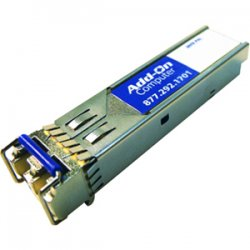 AddOn - GLC-BX-U-AO - AddOn Cisco GLC-BX-U Compatible TAA Compliant 1000Base-BX SFP Transceiver (SMF, 1310nmTx/1490nmRx, 10km, LC, DOM) - 100% compatible and guaranteed to work
